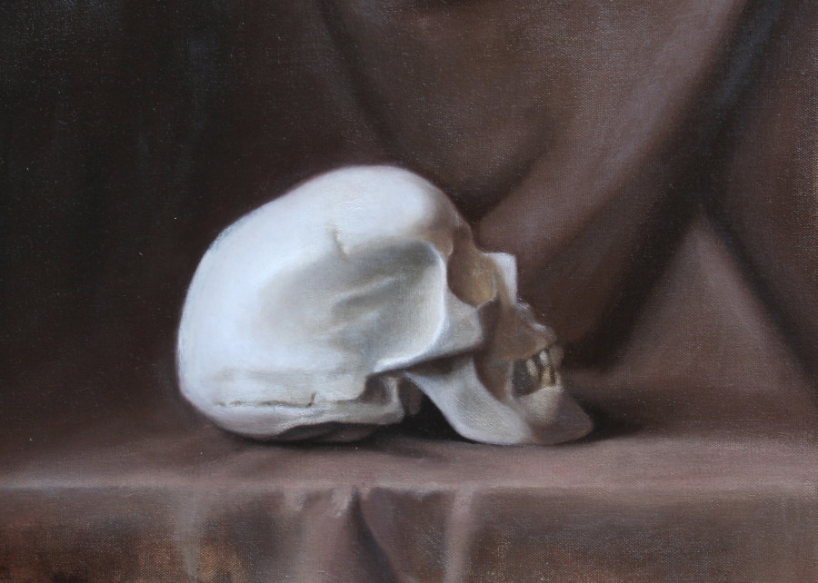 Cast Painting by J. Pitts; oil on canvas